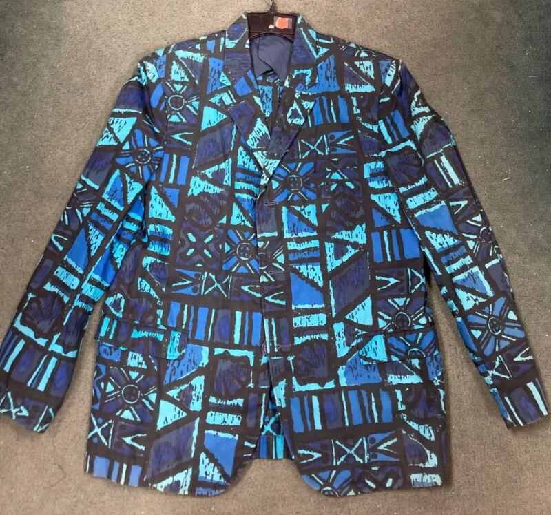 vtg 60s TIKI Hawaiian FIRST BREAK sandwich isles jacket Rockabilly S38