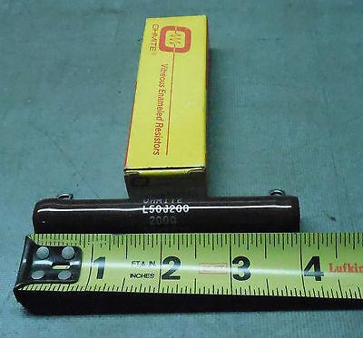 Ohmite 200 Ohm 50w Power Resistor High Wattage L50j200r New Usa Wire Wound