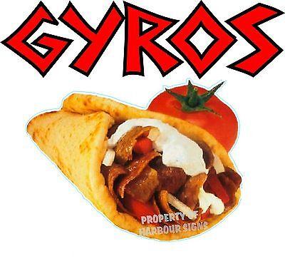 Gyros Gyro Concession Cart Restaurant Greek Food Truck Vinyl Menu Decal 14