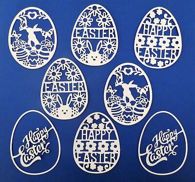 Intricate Egg Eggs Easter Paper Die Cut Embellishment Scrapbooking 8 Pcs Bunny](Easter Paper)