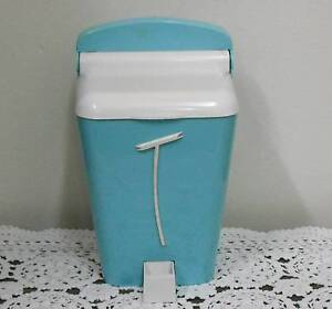 (Held pending) Gay ware 'Glamour' Tea caddy 1950s blue and white Dianella Stirling Area Preview