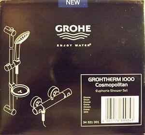 grohe euphoria shower plumbing ebay. Black Bedroom Furniture Sets. Home Design Ideas