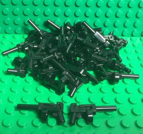 Lego 25 Pieces Black Tommy Gun / Mini Figures Round Magazine