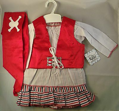 Deluxe Baby Girls Pirate Halloween Costume for 6 to 18 Month