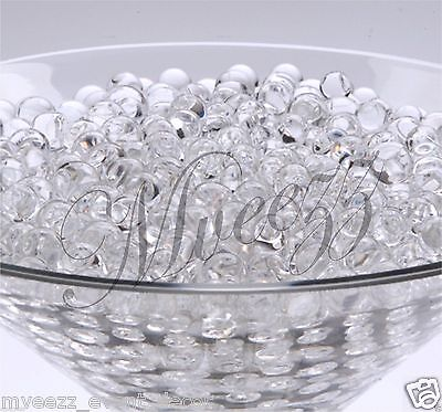 100 PKS CLEAR WATER BIO CRYSTAL SOIL PARTY EVENT BALL BEADS WEDDING CENTERPIECE