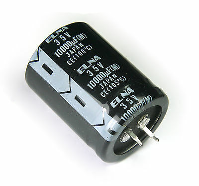 2pcs Elna 10000uf 35v 105c Radial Electrolytic Capacitor Made In Japan