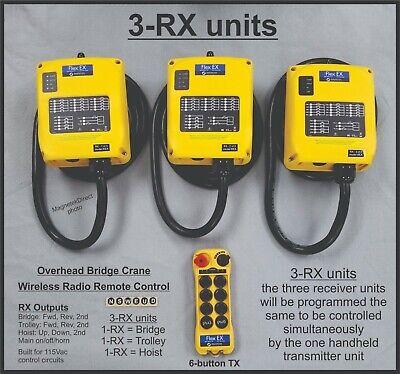 Magnetek Radio Remote Control Flex 6ex2 Overhead Bridge Crane With 3-rx Units