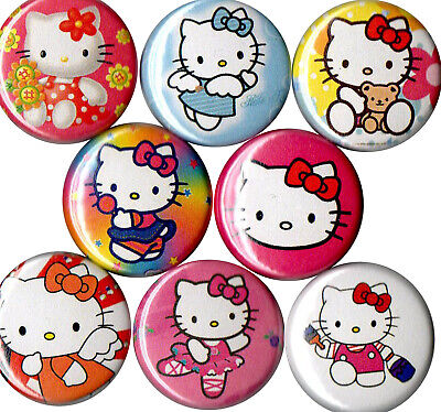 Set of Hello Kitty 8 pins buttons
