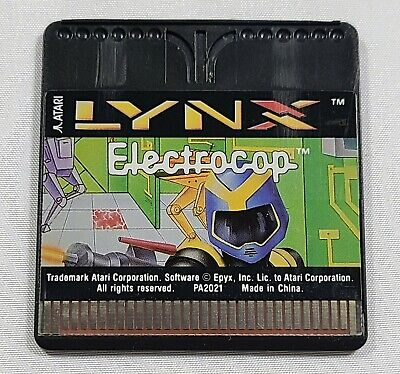 Electrocop For Atari Lynx Handheld System  - Game Card Only