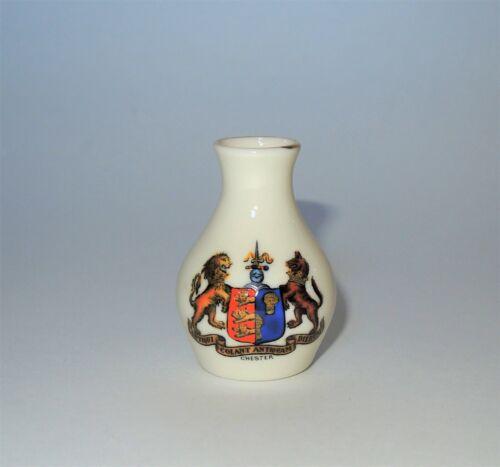 W. H. GOSS Crested Heraldic Bone China Mini Miniature Vase Chester England EUC