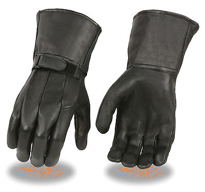 Men's Mid Weight UnLined Motorcycle Gauntlet Glove Tight Fitting Style SH864UN - Midweight Bike Tights