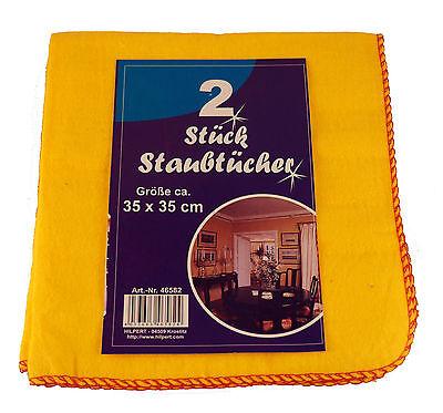 6 x 2 Staubtücher aus Baumwolle in gelb, Staubtuch, Baumwolltuch, NEU +