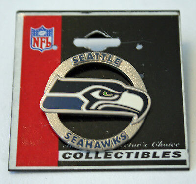 Seattle Seahawks Circle Logo  NFL Official Licensed Pin New