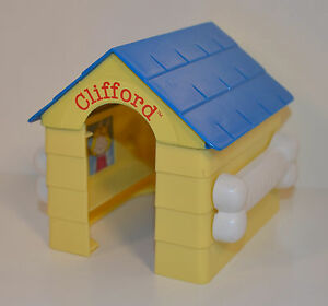 RARE-2003-Doghouse-House-4-Action-Figure-McDonalds-Clifford-The-Big-Red-Dog