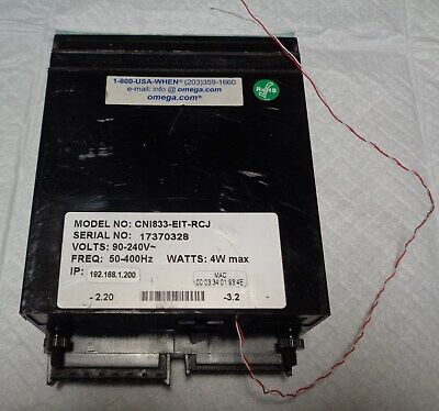 New Nos Omega Cni833-eit-rcj Temperature Process Strain Controller 90-240v 4w