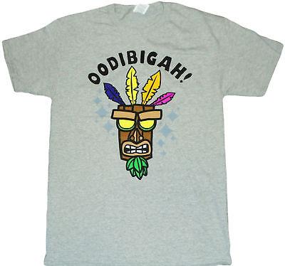 Crash Bandicoot Oodibigah Adult T-Shirt - Video Game, Party, Platform, Racing