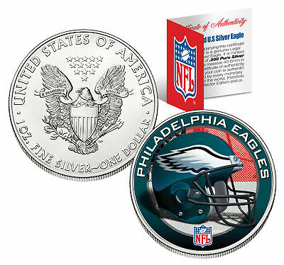 PHILADELPHIA EAGLES 1 Oz American Silver Eagle US Coin NFL OFFICIALLY LICENSED