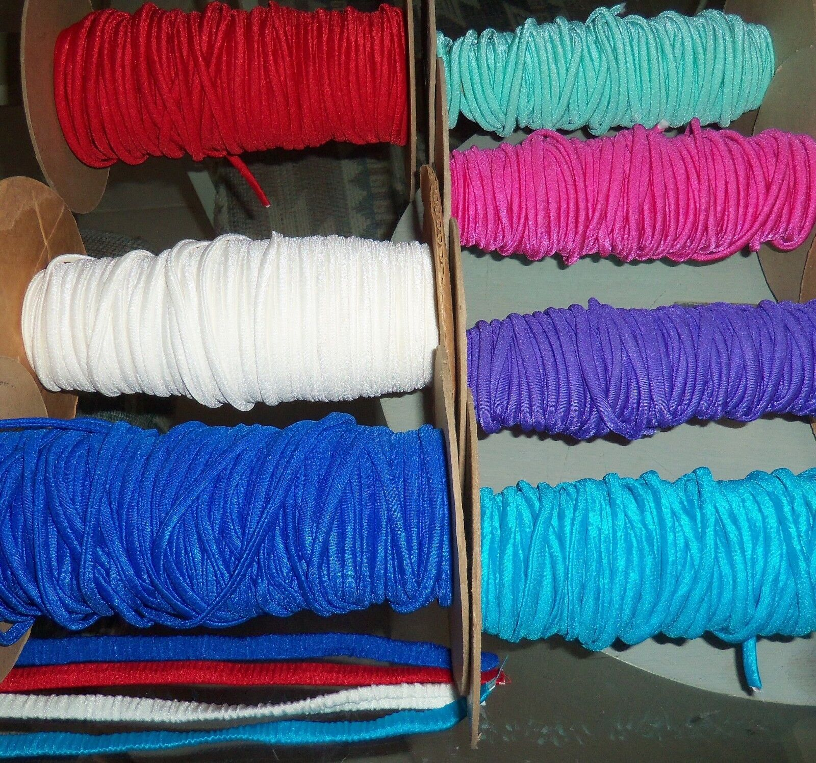 "5 yds 1/4"" SPAGHETTI STRAPS, YOUR CHOICE COLOR LYCRA SPANDEX"