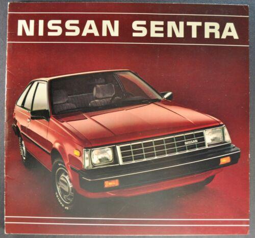 1984 Nissan Sentra Catalog Brochure Sedan XE Coupe Wagon Excellent Original 84
