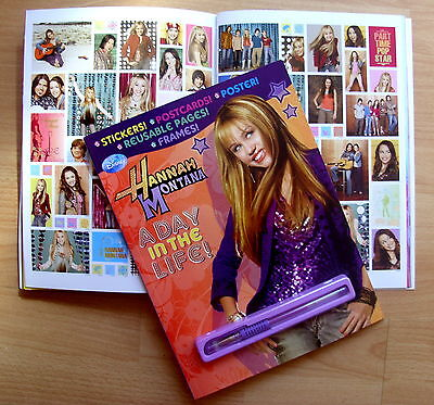 Hannah Montana : Miley Cyrus - A Day in the Life - Activity book and Pen - New