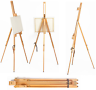 1 x ARTIST TRIPOD EASEL 6ft WOODEN ADJUSTABLE PAINTING STUDIO DISPLAY FIELD B84