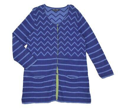 Womens Gudrun Sjoden Organic Cotton Tunic Cardigan Purple Button Plus Size XL