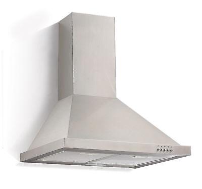 Set Ventilation Hotte de Cuisinière 60cm + Filtre au Carbone Actif - Acier Inox
