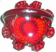 Fenton Ruby Red Basket