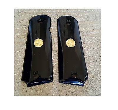 AJAX Grips for Colt 1911 Full Size Govt Commander BUFFALO Polymer Gold Medallion