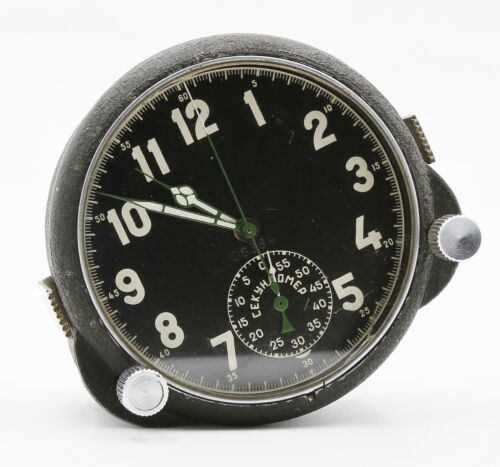 5-day Soviet Russian Military AirForce Cockpit Clock 56CP/56ChP