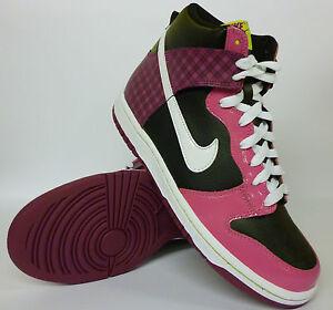 Nike Hi Tops Girls Black Pink Size 11 Bargain £21.99 New