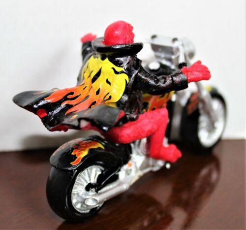 Lemax Hell On Wheels Devil on Motorcycle Spooky Town Halloween Village