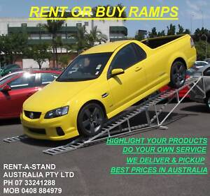 CAR RAMPS TO DISPLAY OR SERVICE  YOUR WHEELS