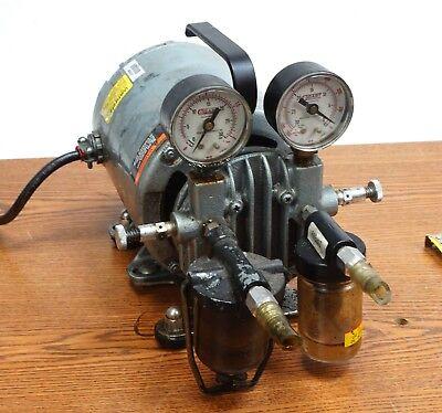 Gast General Electric Vacuum Pump G8gcx Ac Motor 5kh33dn16gx 16hp 115v 1725 Rpm