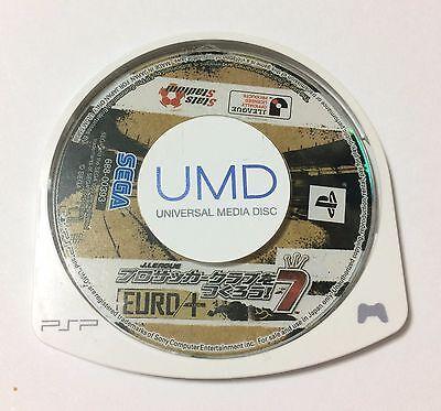 USED PSP Disc Only J-League Pro Soccer Club o Tsukurou 7 EURO PLUS JAPAN import