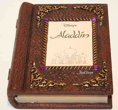 Disney Parks Fossil Aladdin Jasmine Magic Carpet Book Watch Pin Set LE 658/2500