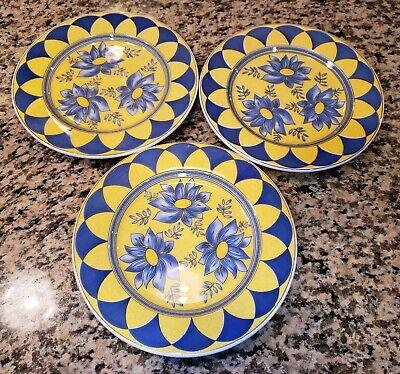 EUC Set 3 Dinner Plates 04-98 Ceramica Quadrifoglio Italy 8