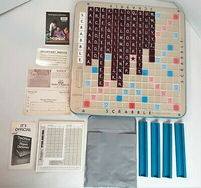 Deluxe Edition Scrabble Crossword Game Turntable 1977 Selchow & Righter NO BOX