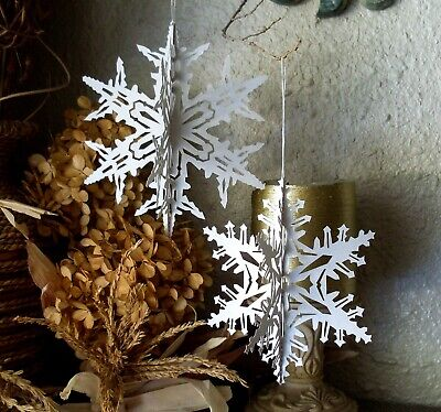 Scherenschnitte Patterns for Making 3D Paper Snowflake Ornaments - Item -