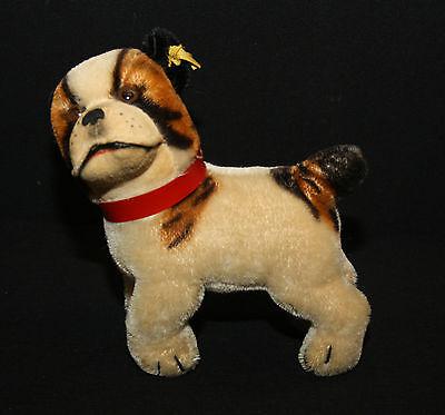 Steiff Hund alt Bully mit Stimme und drehbarem Kopf