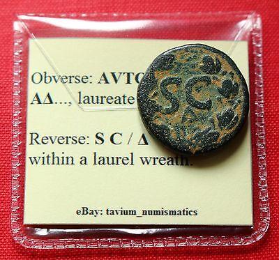 ANTONINUS PIUS AE21 10G WREATH SC  ANTIOCH SYRIA ROMAN EMPIRE COIN