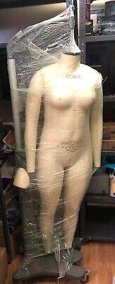 Alva Form Model Junior Female Full Body Sz 13 2011 With Alvaform Stand