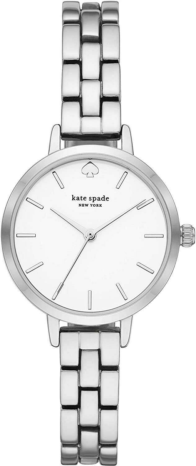 KATE SPADE NEW YORK METRO THREEHAND SILVER METAL WOMENS WATCH KSW9001