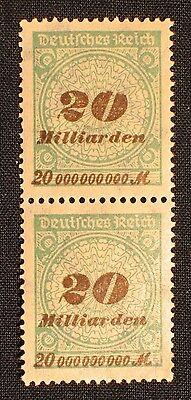 Deutsches Reich Inflation Abart , Plattenfehler Nr. 329 II ** im Paar