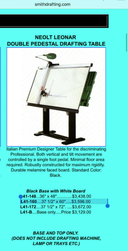 Leonar Neolt Professional Drafting Table, Made in Italy