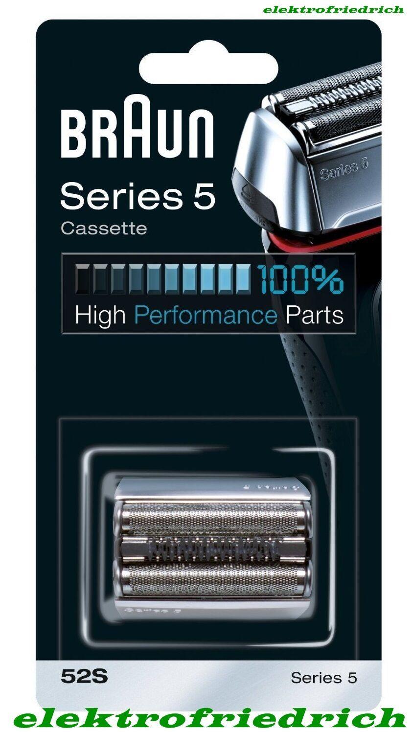 BRAUN Scherkopf 52s Series 5 Kombipack - Cassette NEUOVP 5090cc 5070cc etc