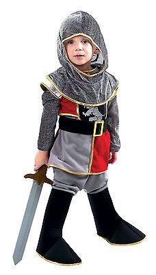 Junge Kleinkind Ritter Kostüm Soldaten König Mittelalter Outfit NEU Age 3-4