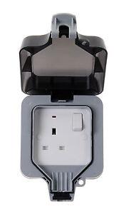 BG Nexus WP21 IP66 1Gang Weatherproof Single Outdoor Switched Socket 13A