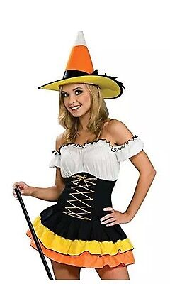 Secret Wishes Candy Corn Cutie Costume Size Small NEW Free Shipping 3 Pieces (3 Wishes Costumes)