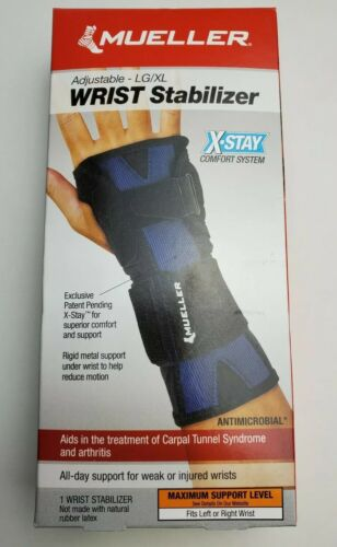Mueller Adjustable X-Stay Comfort System Wrist Stabilizer LG